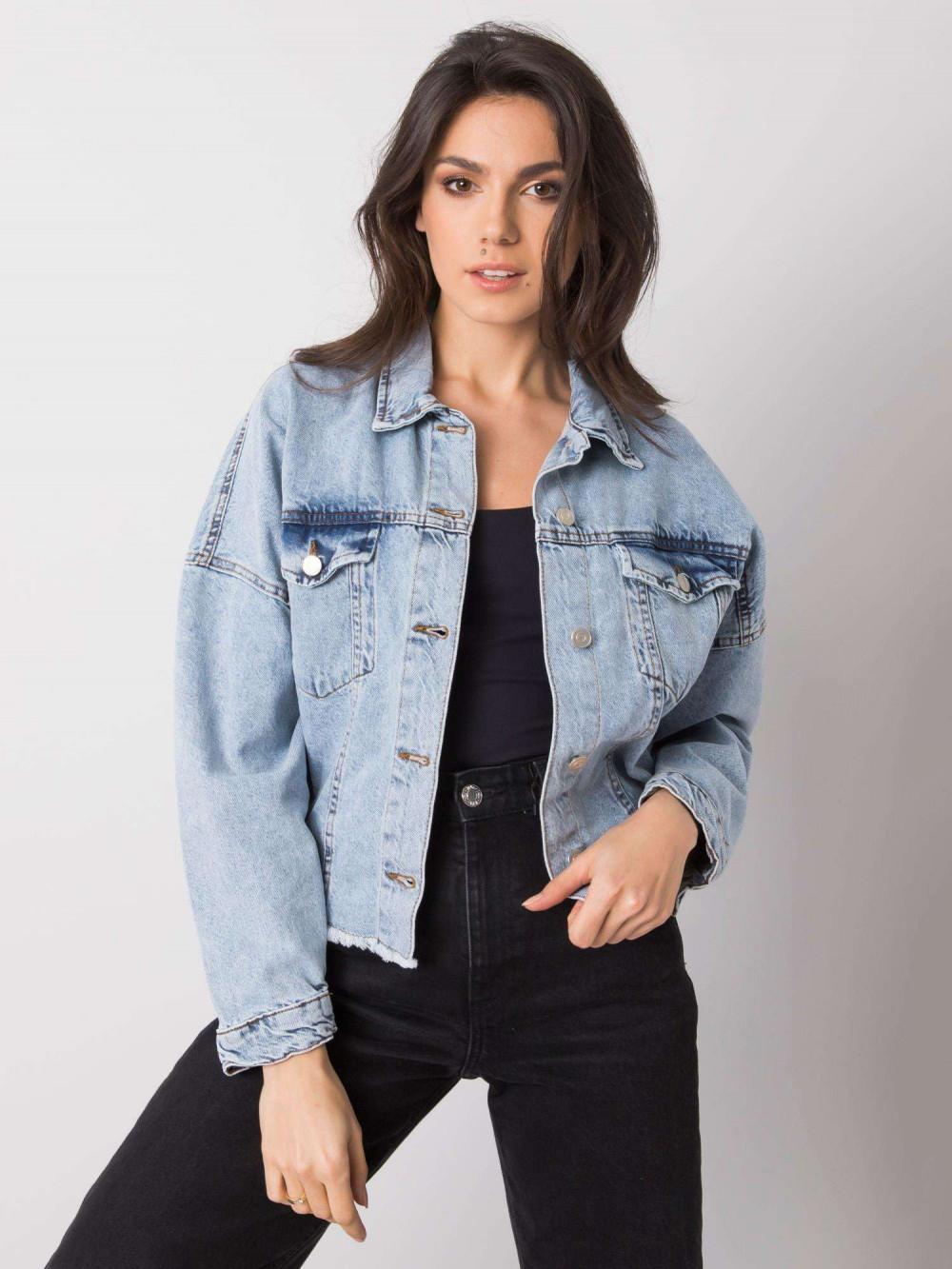 Jasnoniebieska ovesizeowa kurtka jeansowa Ronwey 1
