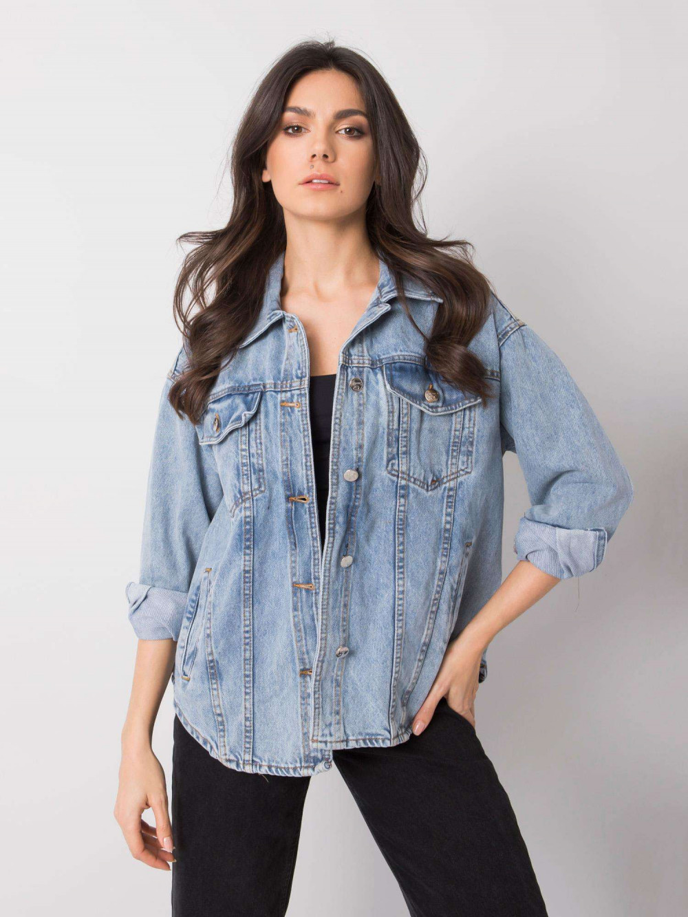 Jasnoniebieski kurtka jeansowa oversize Kharis 1