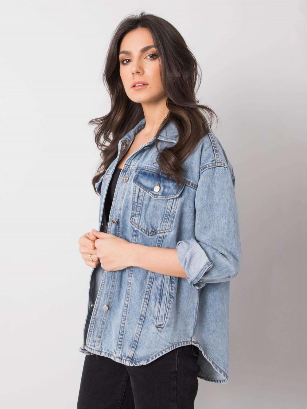 Jasnoniebieski kurtka jeansowa oversize Kharis 3