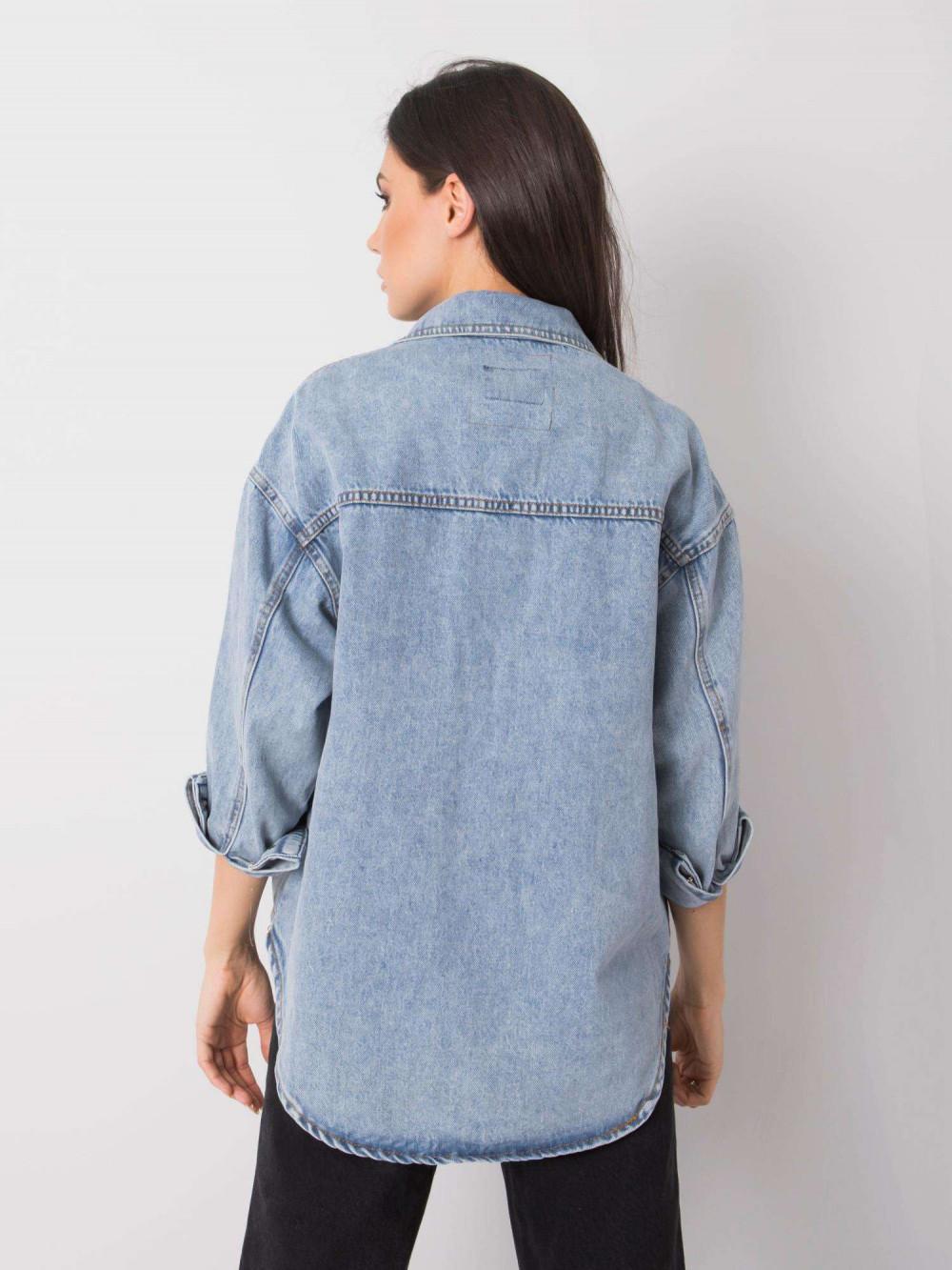 Jasnoniebieski kurtka jeansowa oversize Kharis 4
