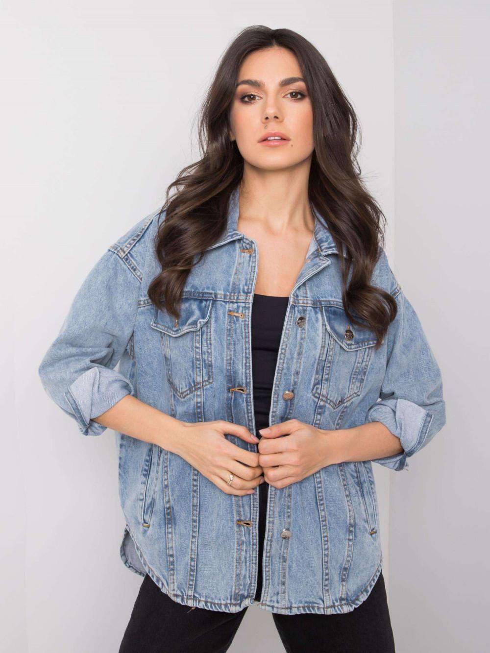 Jasnoniebieski kurtka jeansowa oversize Kharis 2