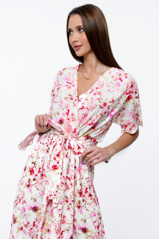 Jasnoróżowa sukienka kwiatowa midi Martina 2