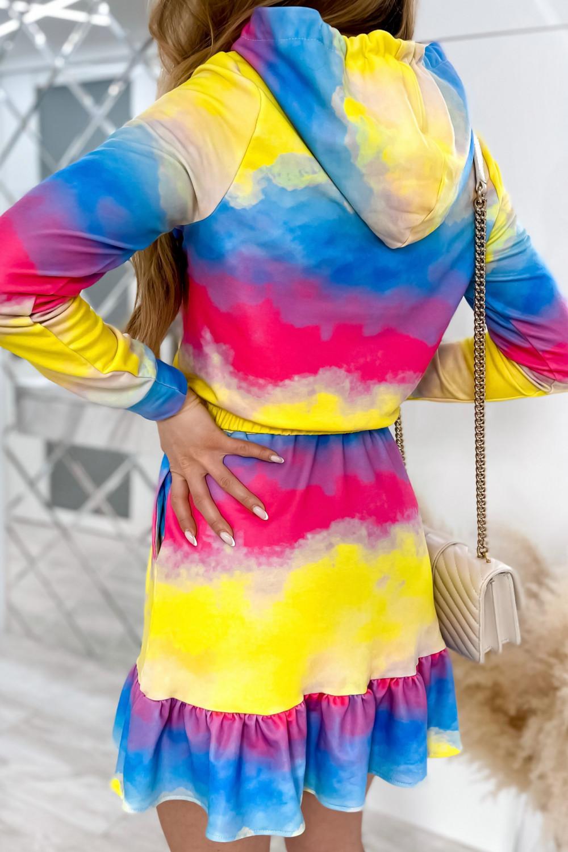 Kolorowy komplet bluza i spódniczka Amanda 6