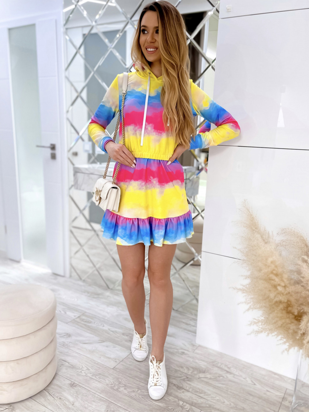 Kolorowy komplet bluza i spódniczka Amanda 2