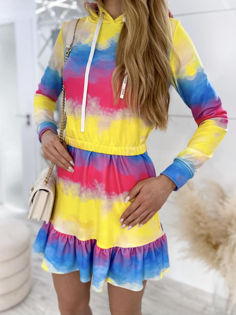 Kolorowy komplet bluza i spódniczka Amanda 4