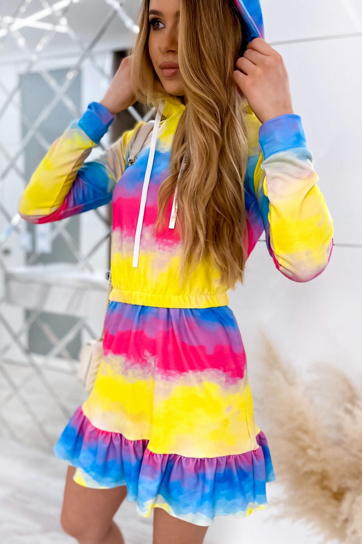 Kolorowy komplet bluza i spódniczka Amanda 1