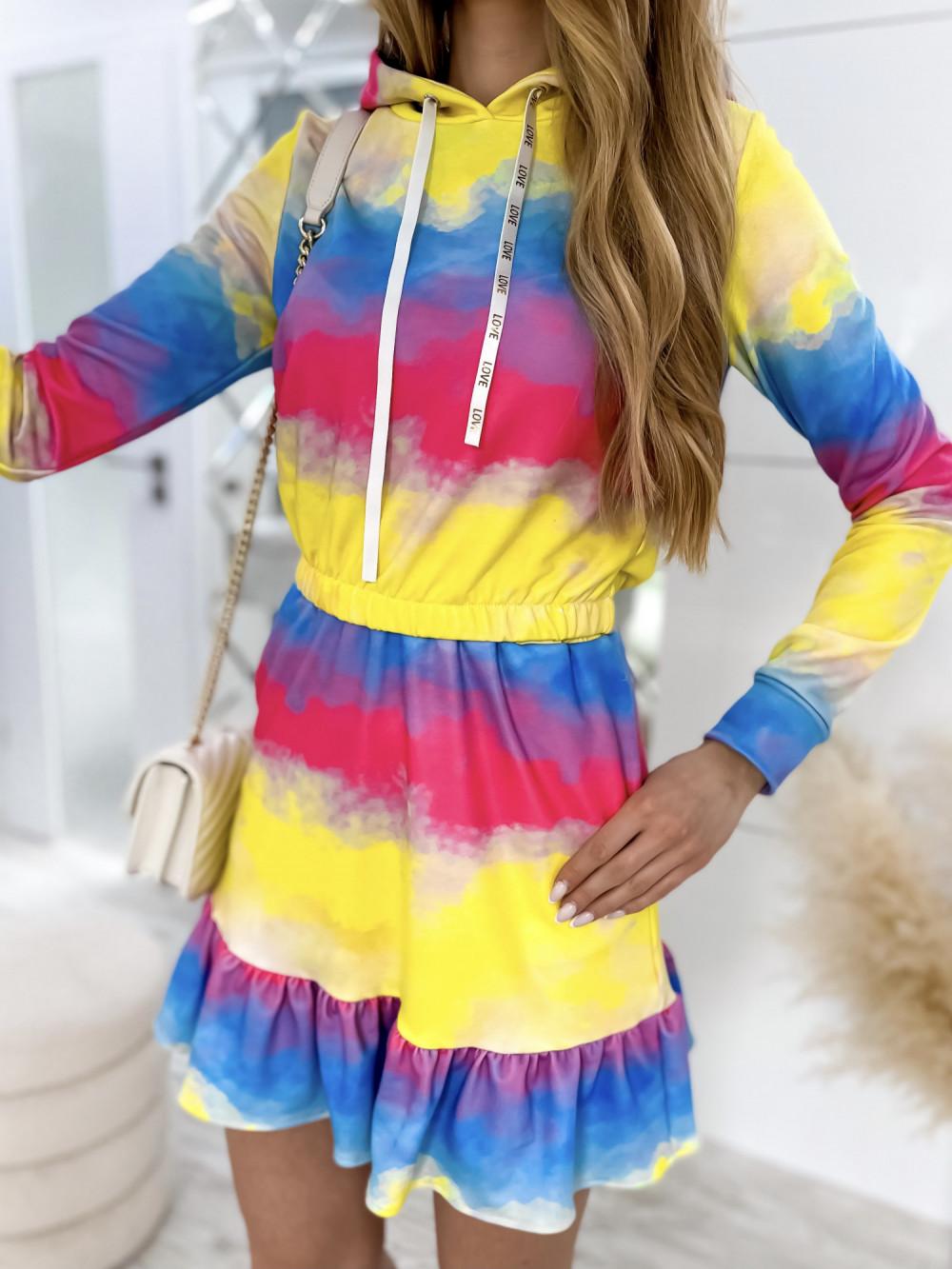 Kolorowy komplet bluza i spódniczka Amanda 3