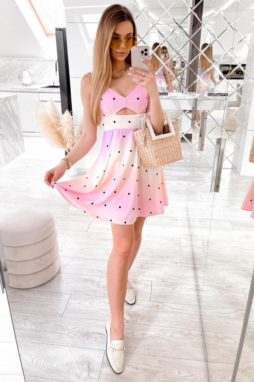 Jasnoróżowa sukienka pastelowa na ramiączkach Sofia 3