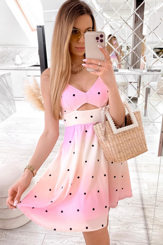 Jasnoróżowa sukienka pastelowa na ramiączkach Sofia 1