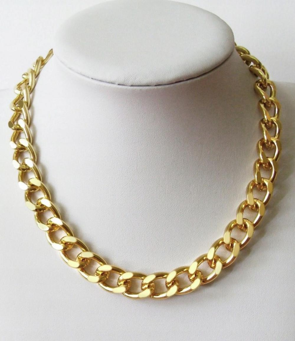 Złoty naszyjnik łańcuch choker Collar 1