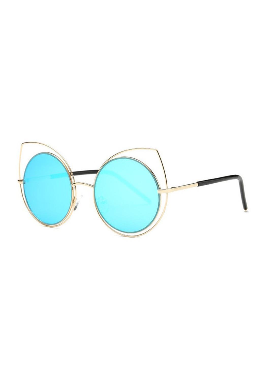 Błętkine lustrzane okulary kocie oko Evie 2