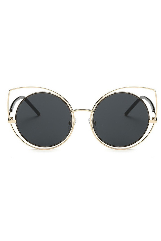 Czarne lustrzane okulary kocie oko Evie 1