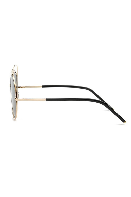 Czarne lustrzane okulary kocie oko Evie 4