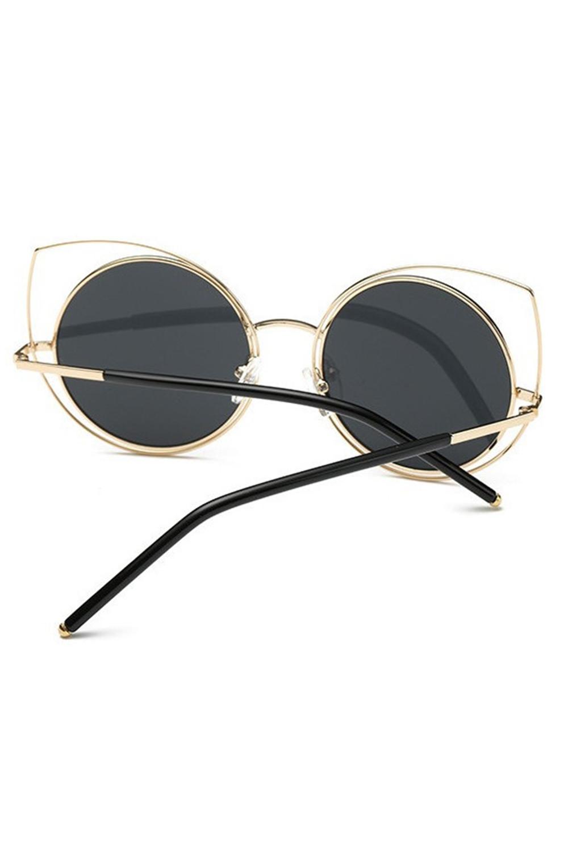 Czarne lustrzane okulary kocie oko Evie 3