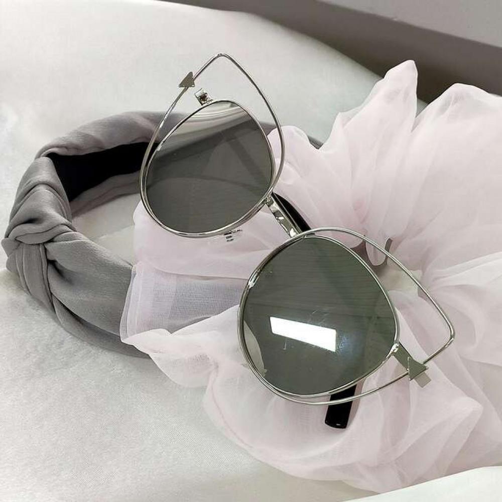Szare okulary przeciwsłoneczne lustrzane kocie oko Aurora 3