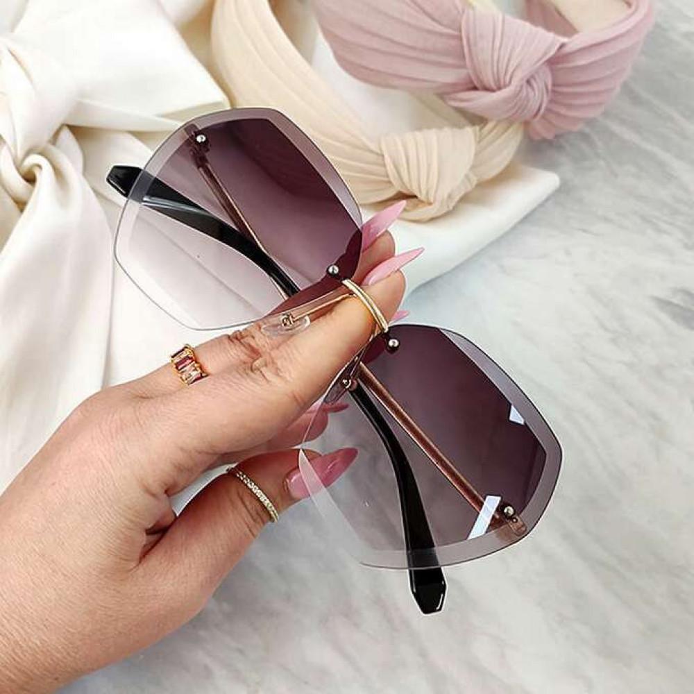 Jasnofioletowe okulary przeciwsłoneczne bez oprawek Wine 2