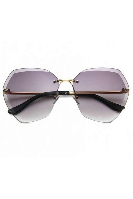 Jasnofioletowe okulary przeciwsłoneczne bez oprawek Wine 1