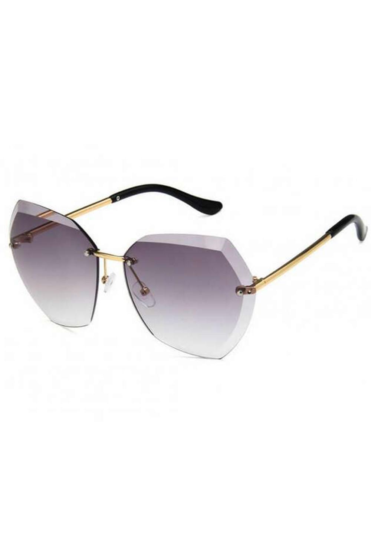 Jasnofioletowe okulary przeciwsłoneczne bez oprawek Wine 3
