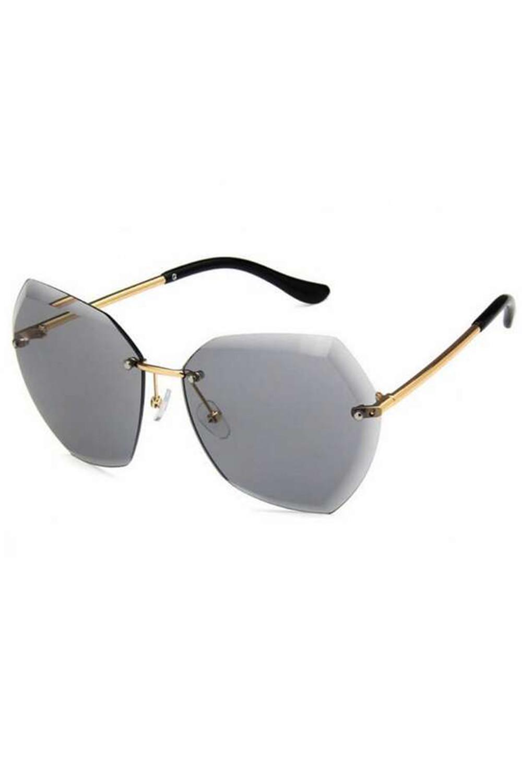 Czarne okulary przeciwsłoneczne bez oprawek Wine 3
