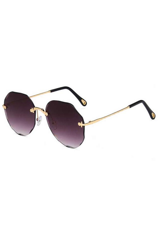 Fioletowe okulary przeciwsłoneczne kryształki bez oprawek Shine 3