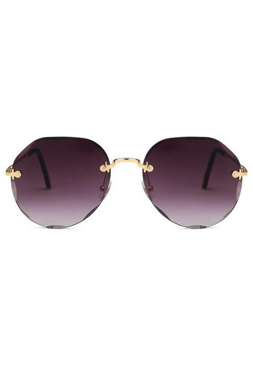 Fioletowe okulary przeciwsłoneczne kryształki bez oprawek Shine 1