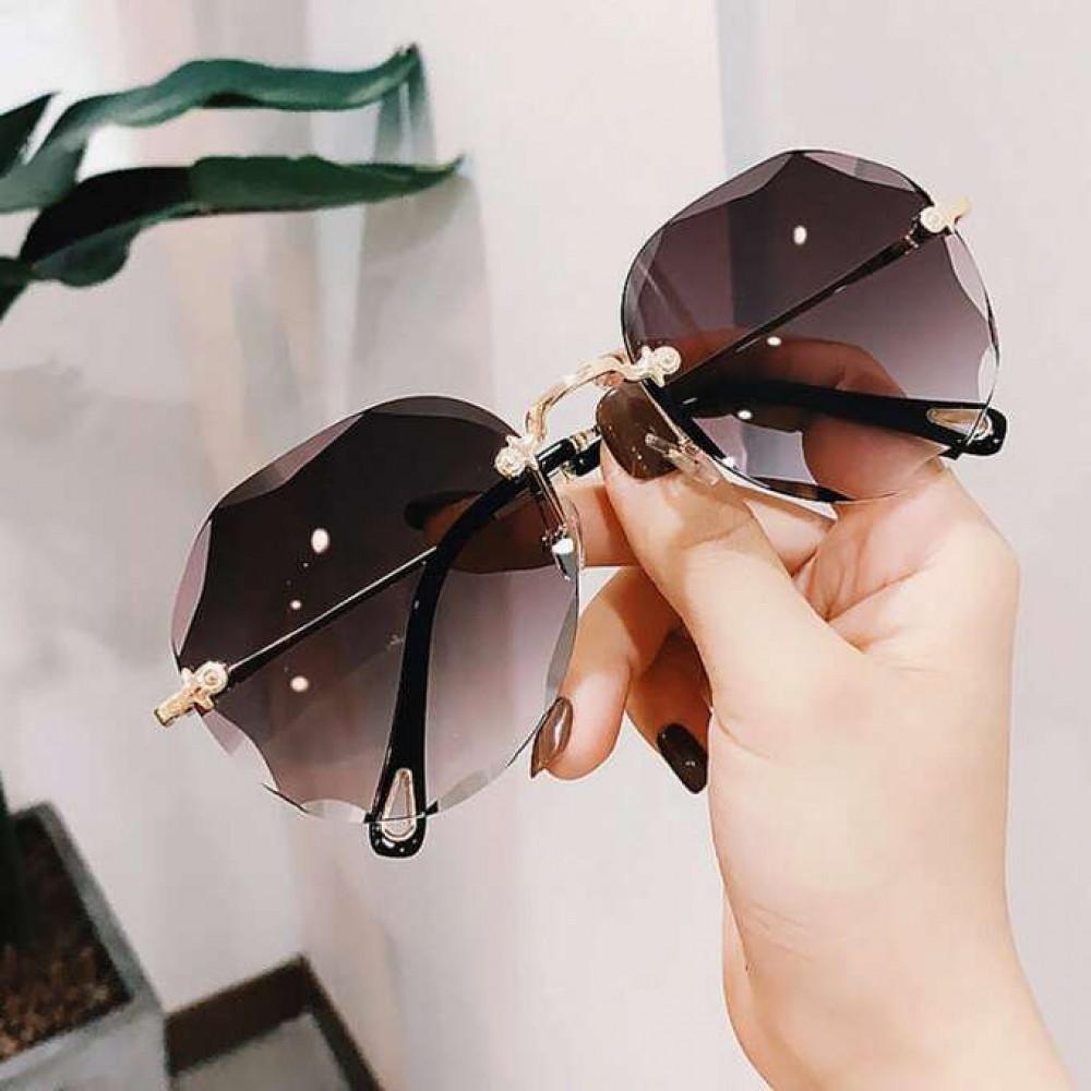 Fioletowe okulary przeciwsłoneczne kryształki bez oprawek Shine 2