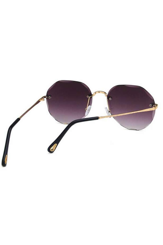 Fioletowe okulary przeciwsłoneczne kryształki bez oprawek Shine 4