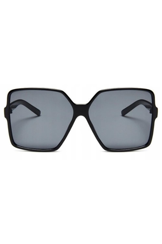 Czarne duże okulary przeciwsłoneczne kwadraty Emily 1