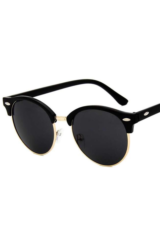 Czarne okulary przeciwsłoneczne clubmaster Helena 1