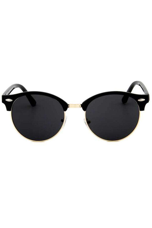 Czarne okulary przeciwsłoneczne clubmaster Helena 3