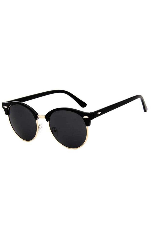 Czarne okulary przeciwsłoneczne clubmaster Helena 4