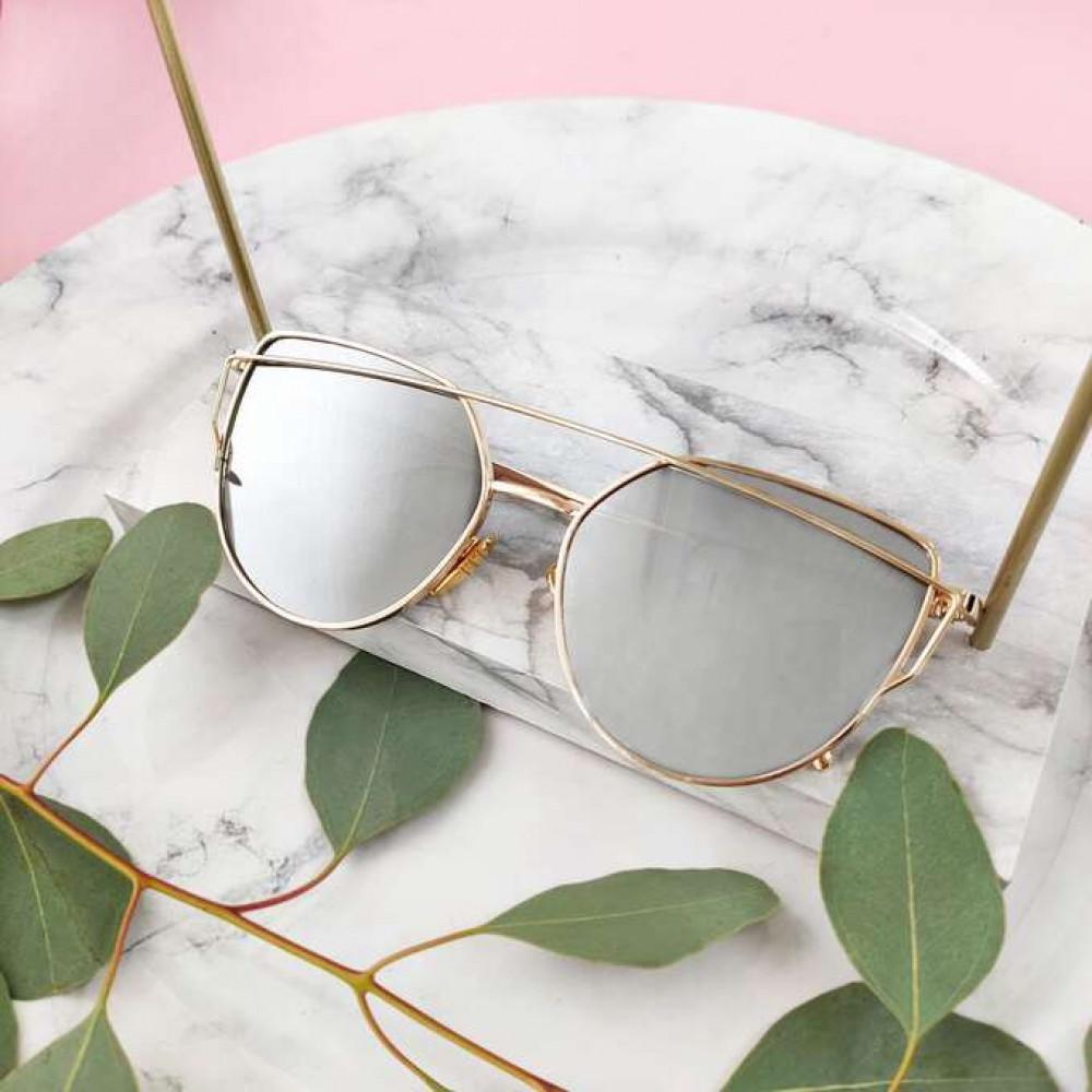 Lustrzane okulary przeciwsłoneczne nowoczesne aviatorki Selena 3
