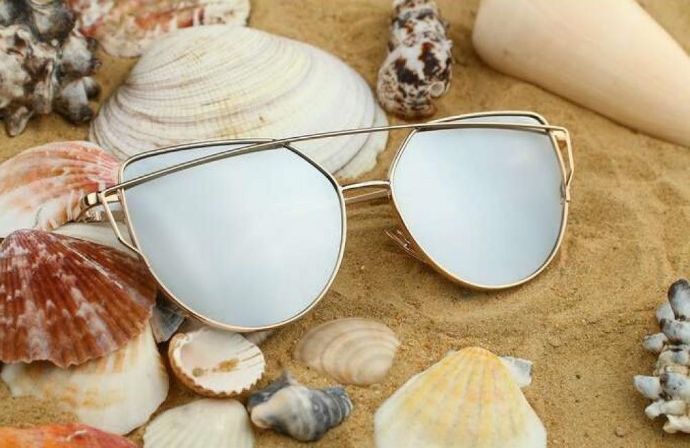 Lustrzane okulary przeciwsłoneczne nowoczesne aviatorki Selena 5