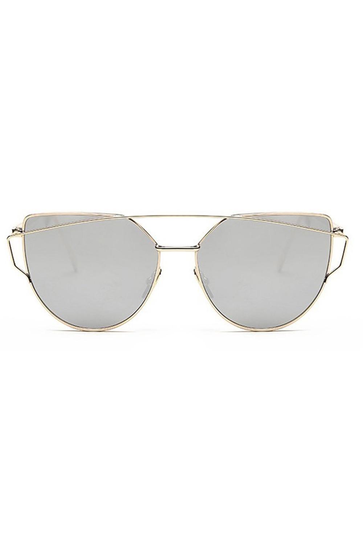 Lustrzane okulary przeciwsłoneczne nowoczesne aviatorki Selena 1
