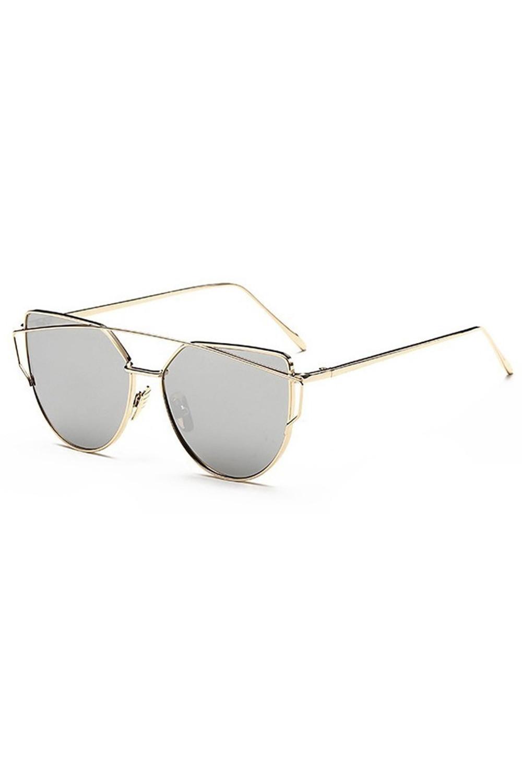 Lustrzane okulary przeciwsłoneczne nowoczesne aviatorki Selena 4