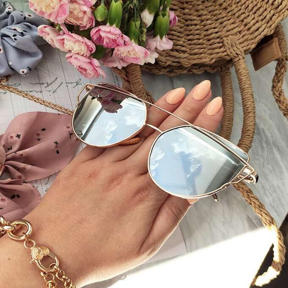 Lustrzane okulary przeciwsłoneczne nowoczesne aviatorki Selena 2