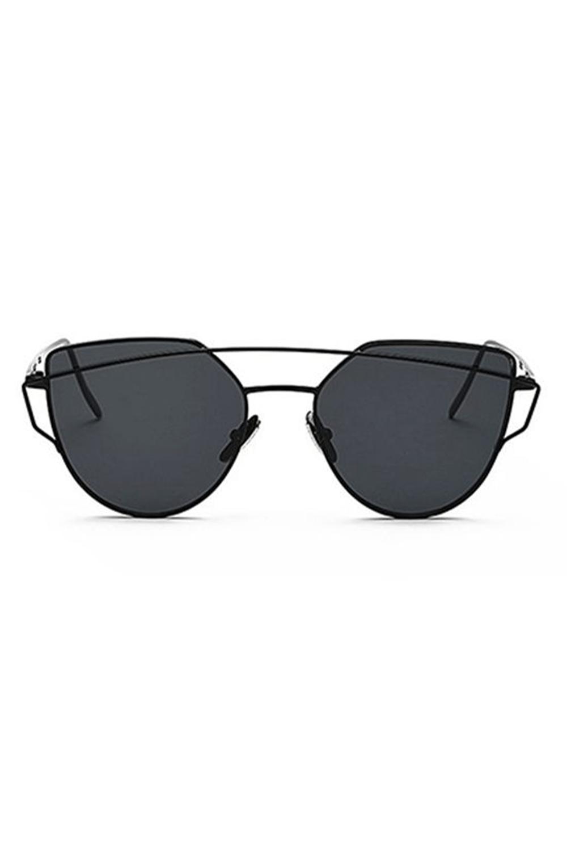 Czarne lustrzane okulary przeciwsłoneczne nowoczesne aviatorki Selena 3