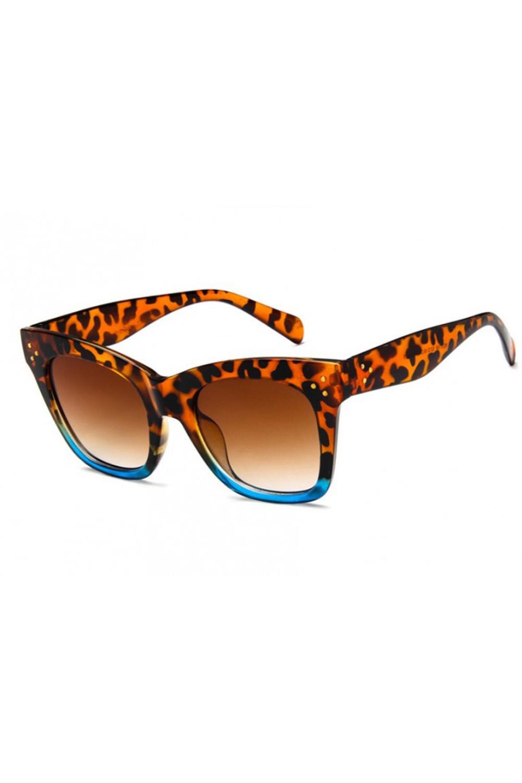 Panterkowo niebieskie okulary przeciwsłoneczne kocie oko Wild 3