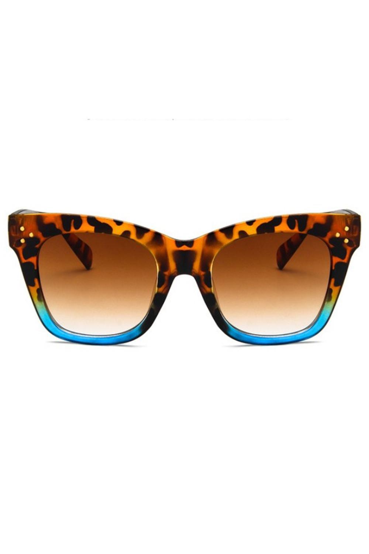 Panterkowo niebieskie okulary przeciwsłoneczne kocie oko Wild 1