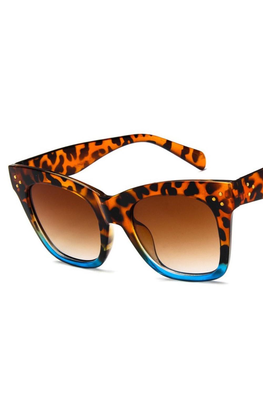 Panterkowo niebieskie okulary przeciwsłoneczne kocie oko Wild 2