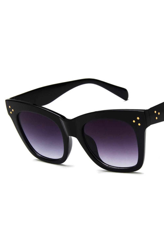 Czarne okulary przeciwsłoneczne kocie oko Wild 4