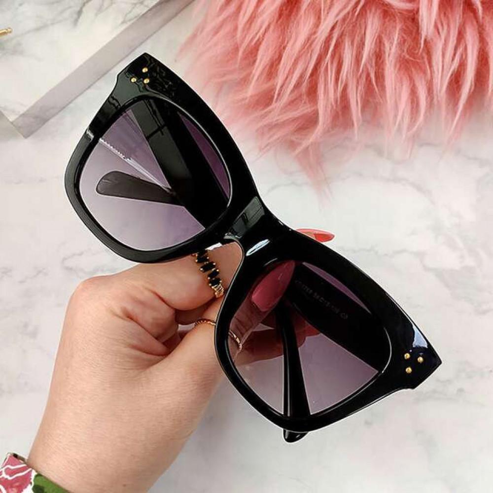 Czarne okulary przeciwsłoneczne kocie oko Wild 2