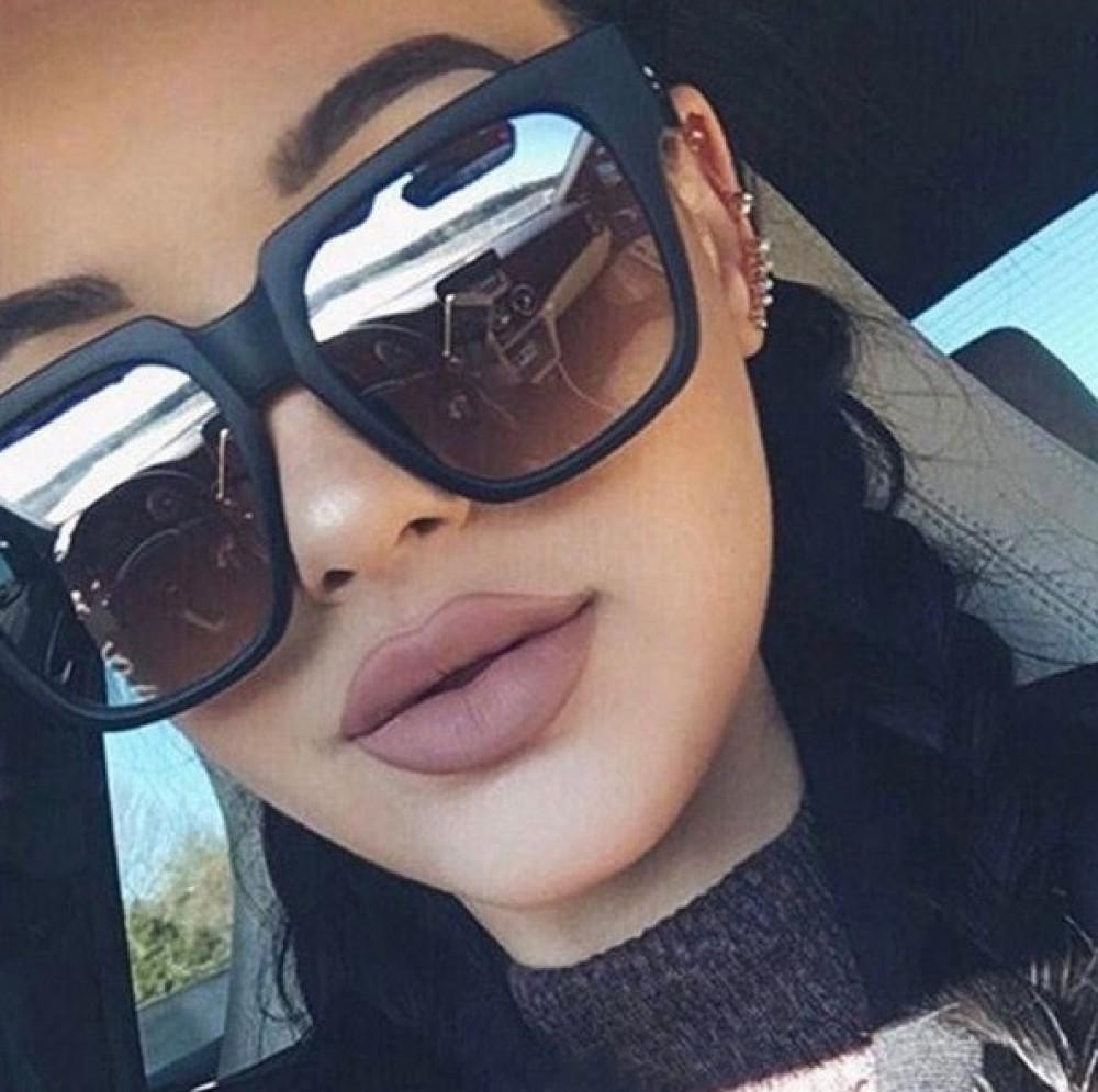 Czarne duże okulary przeciwsłoneczne ombre z matową oprawką Sally 2