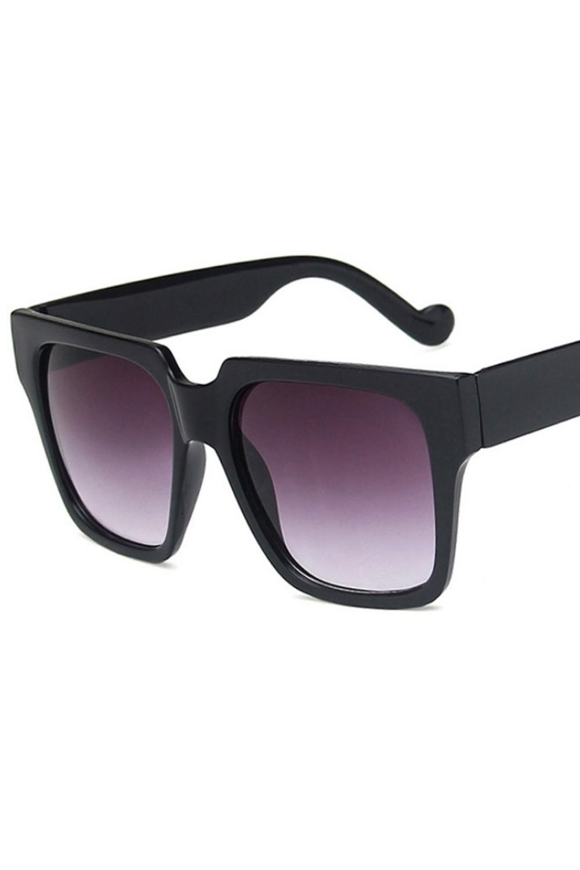 Czarne duże okulary przeciwsłoneczne ombre z matową oprawką Sally 3