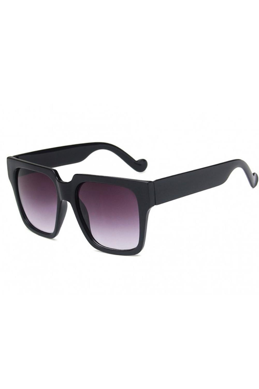 Czarne duże okulary przeciwsłoneczne ombre z matową oprawką Sally 4