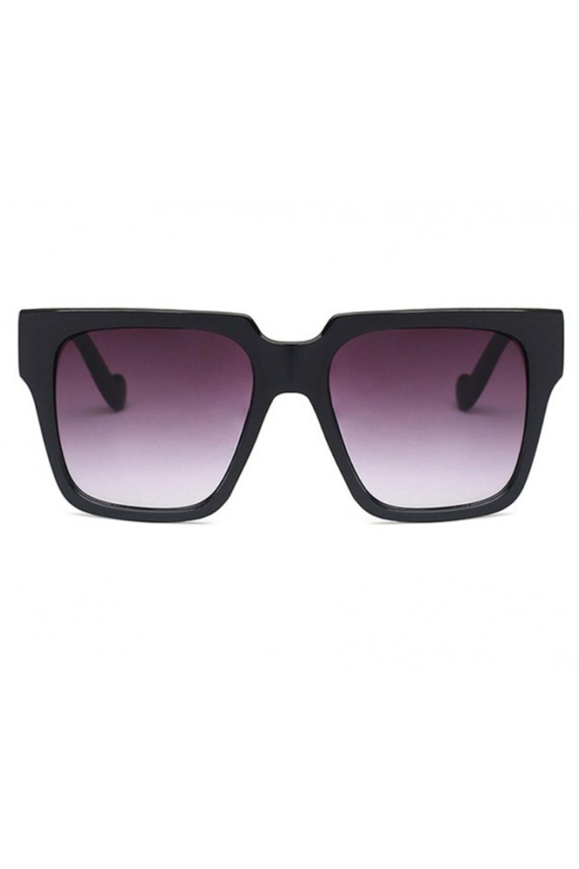 Czarne duże okulary przeciwsłoneczne ombre z matową oprawką Sally 1