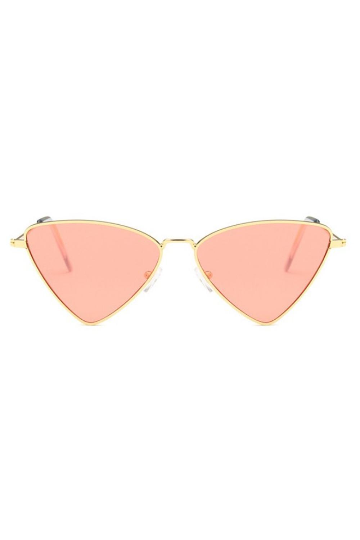 Pomarańczowe okulary przeciwsłoneczne romb Hailey 1
