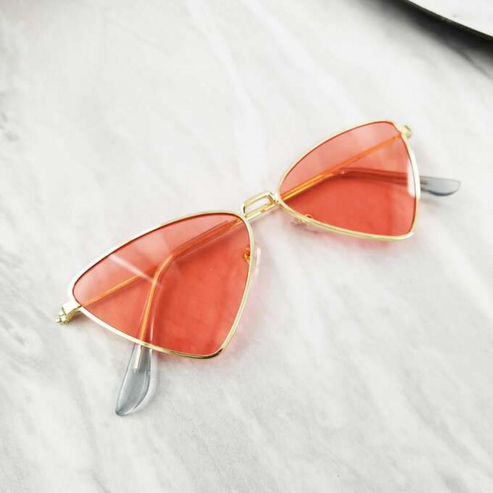 Pomarańczowe okulary przeciwsłoneczne romb Hailey 2