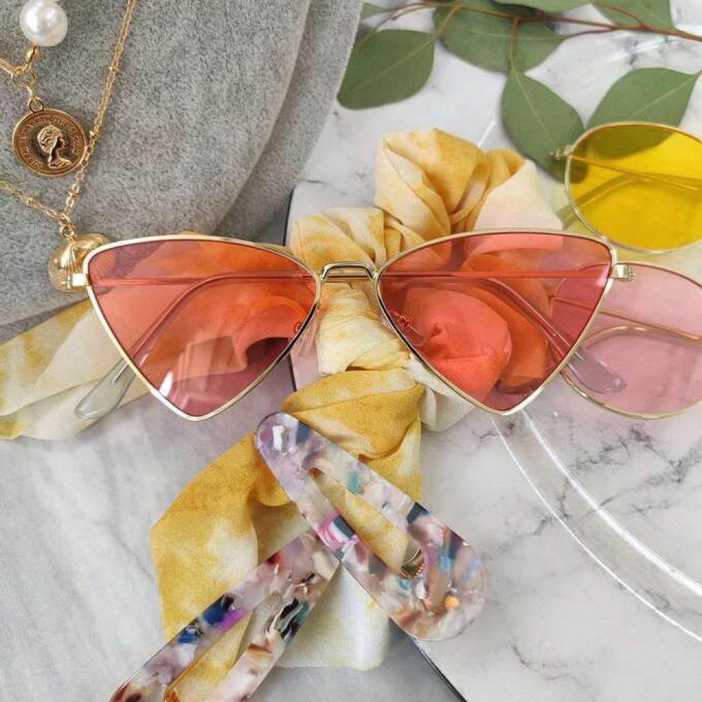 Pomarańczowe okulary przeciwsłoneczne romb Hailey 3