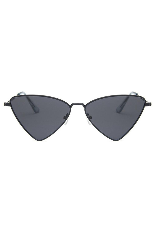 Czarne okulary przeciwsłoneczne romb Hailey 1